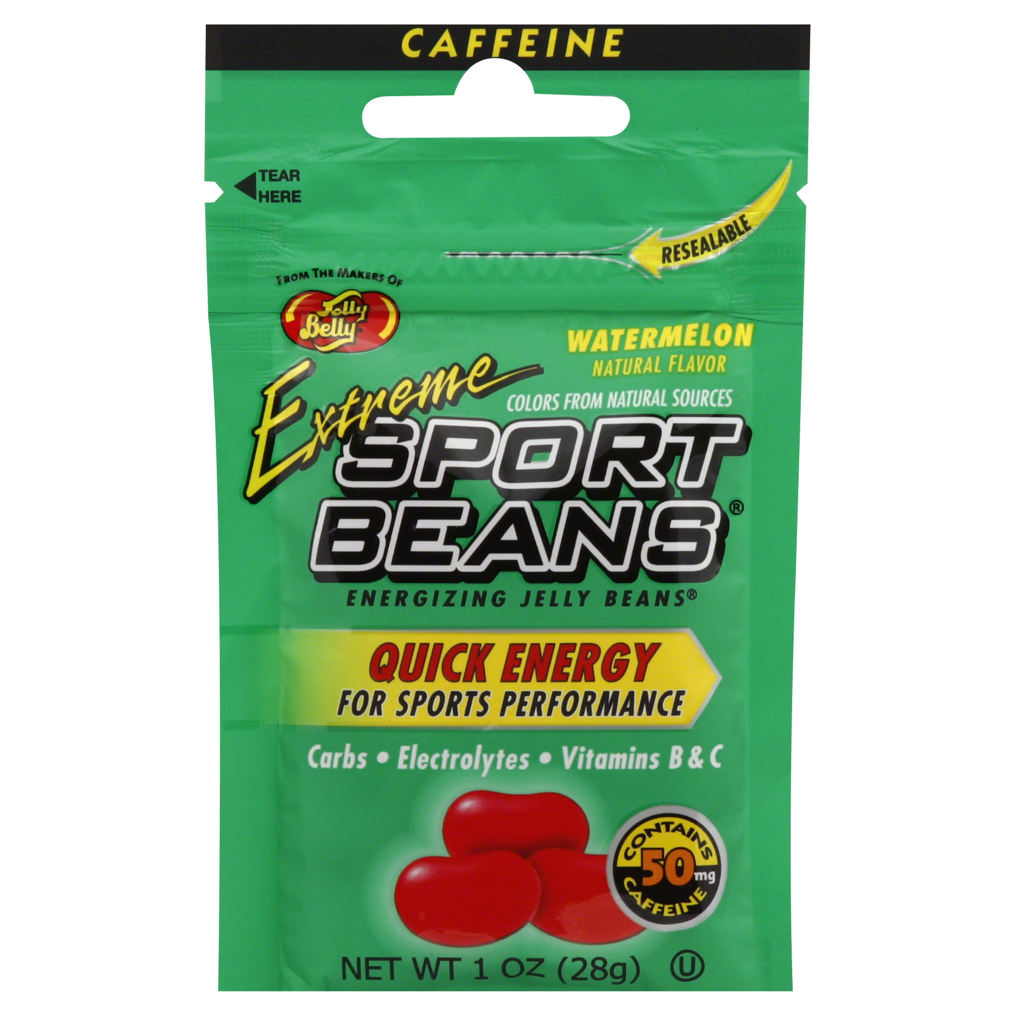 Jelly Belly Extreme Sport Jelly Beans - Natural Watermelon Flavour, 28g