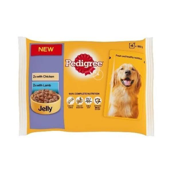 Pedigree Pouch Jelly Chicken & Lamb (13x4X100G)