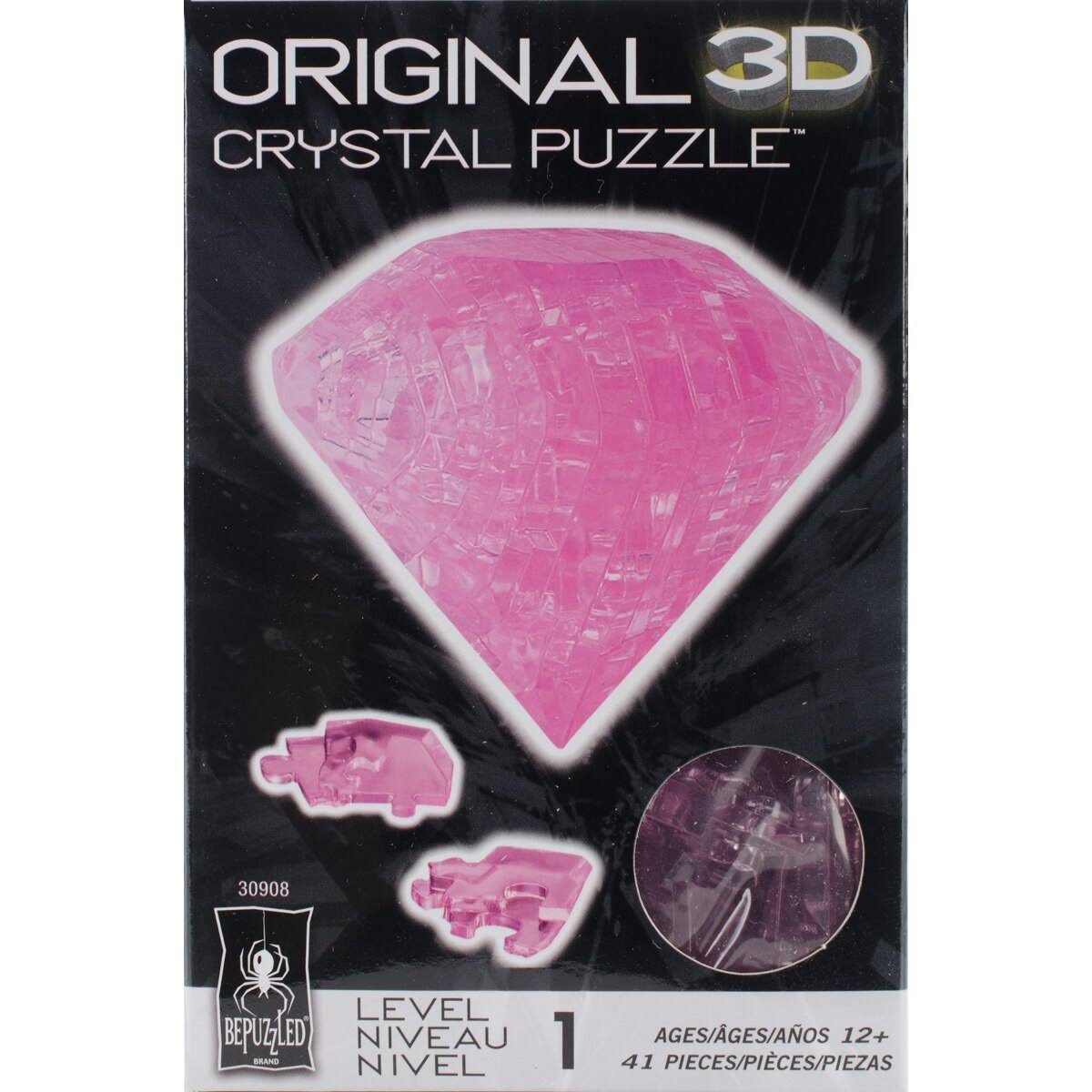 Original 3D Crystal Puzzle - Pink Diamond
