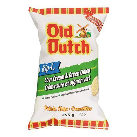 Old Dutch Sour Cream and Green Onion Chips - 255g