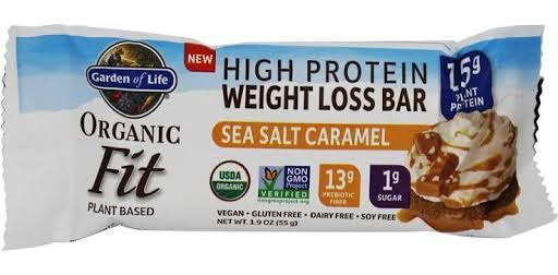 Garden of Life Organic Fit High Protein Weight Loss Bar - Sea Salt Caramel 1.9oz