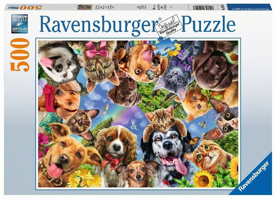 Ravensburger 15042 Animal Selfie 500pc Jigsaw Puzzle