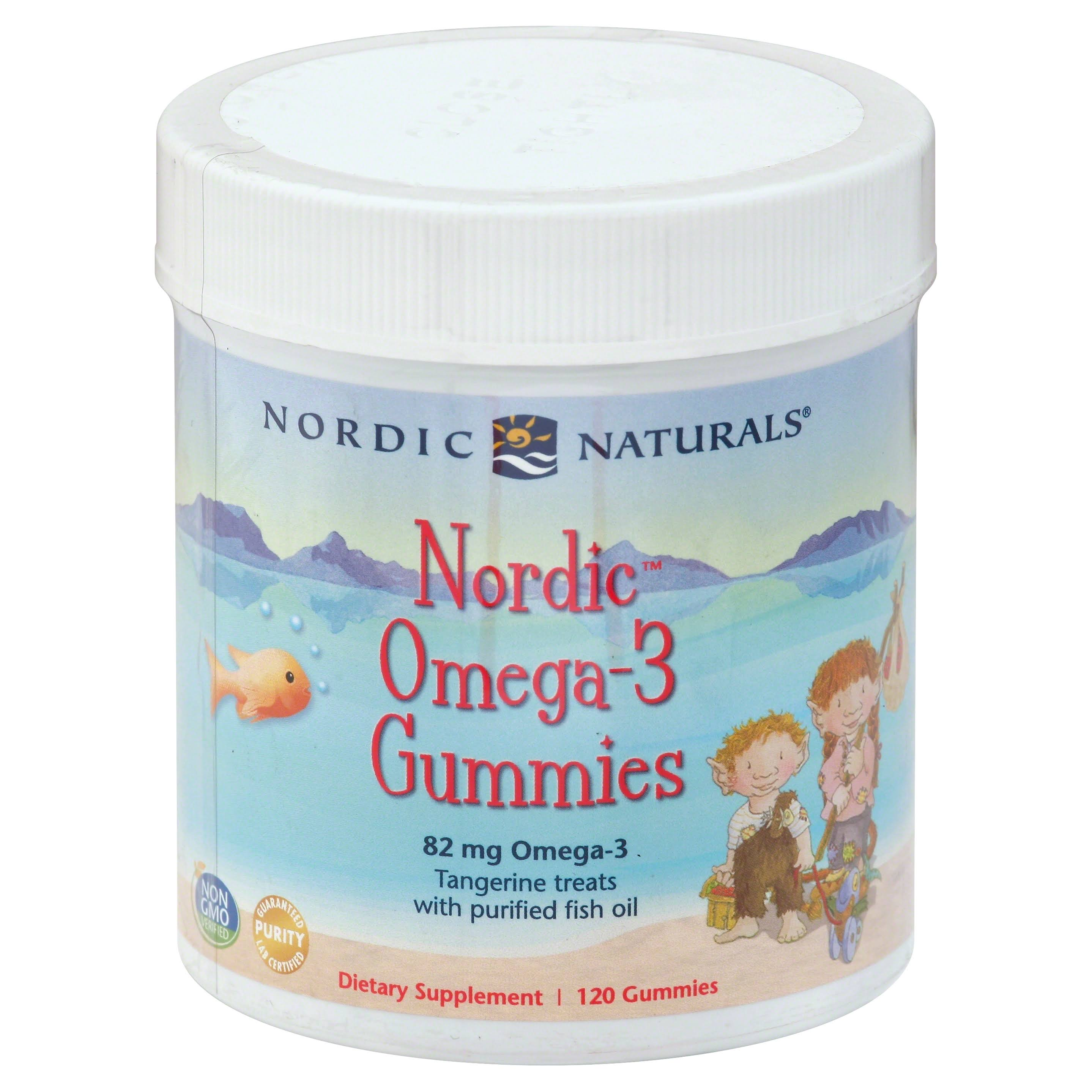 Nordic Naturals Nordic Omega-3 Gummies Dietary Supplement - 82mg, 120 Gummies