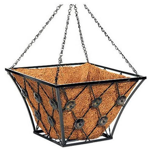 Panacea Bronze Coated Hanging Basket - 14""