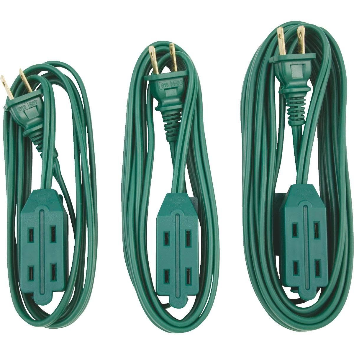 Do It Best Extension Cord Set - Green, 3pk