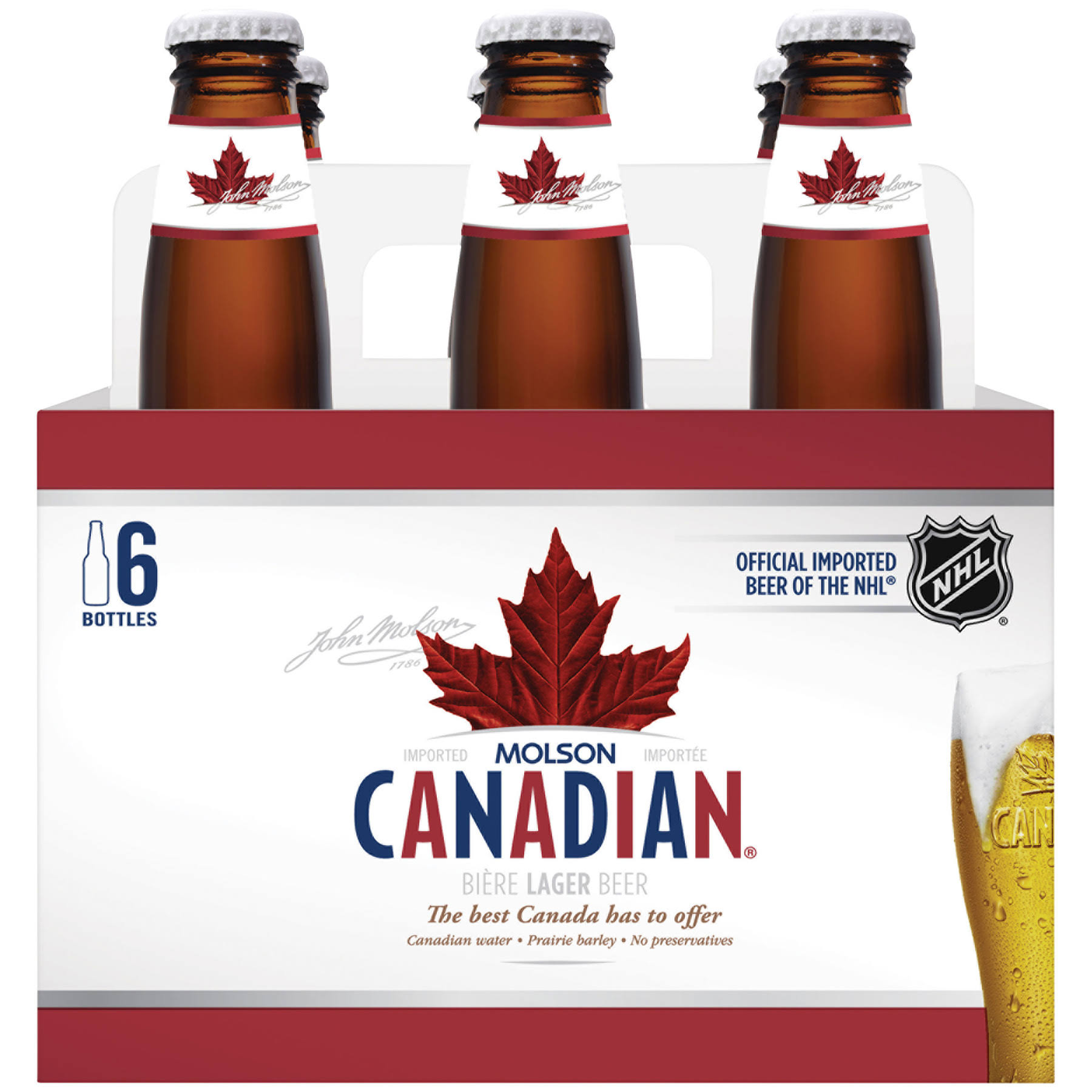 Molson Canadian Beer - 6pk of 12oz