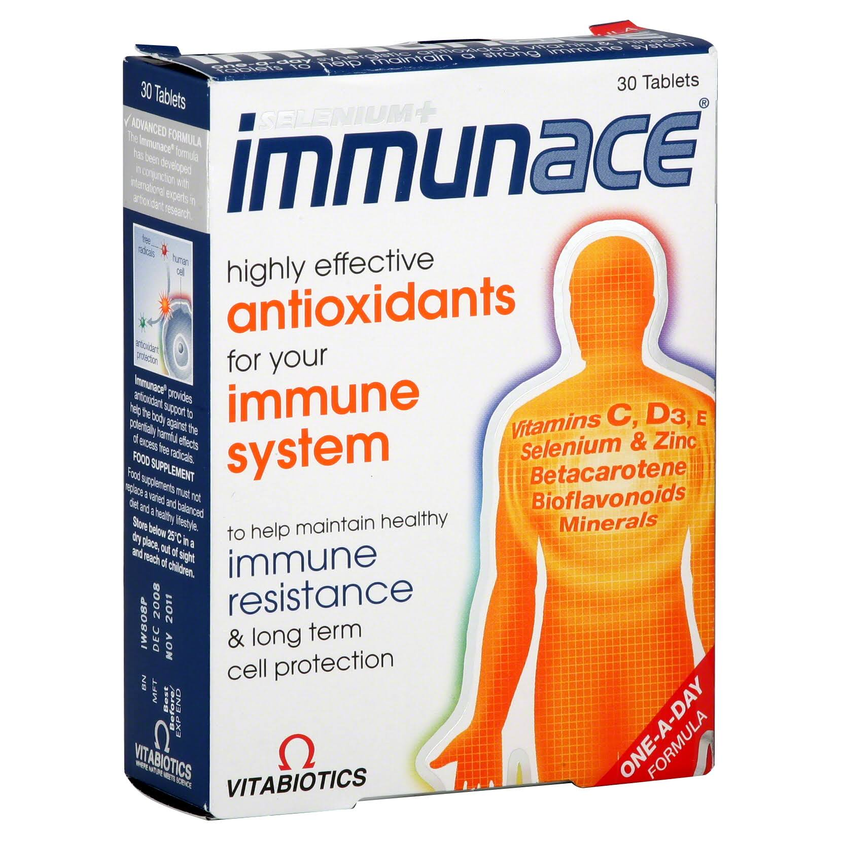 Vitabiotics Immunace Supplement - 30 Tablets