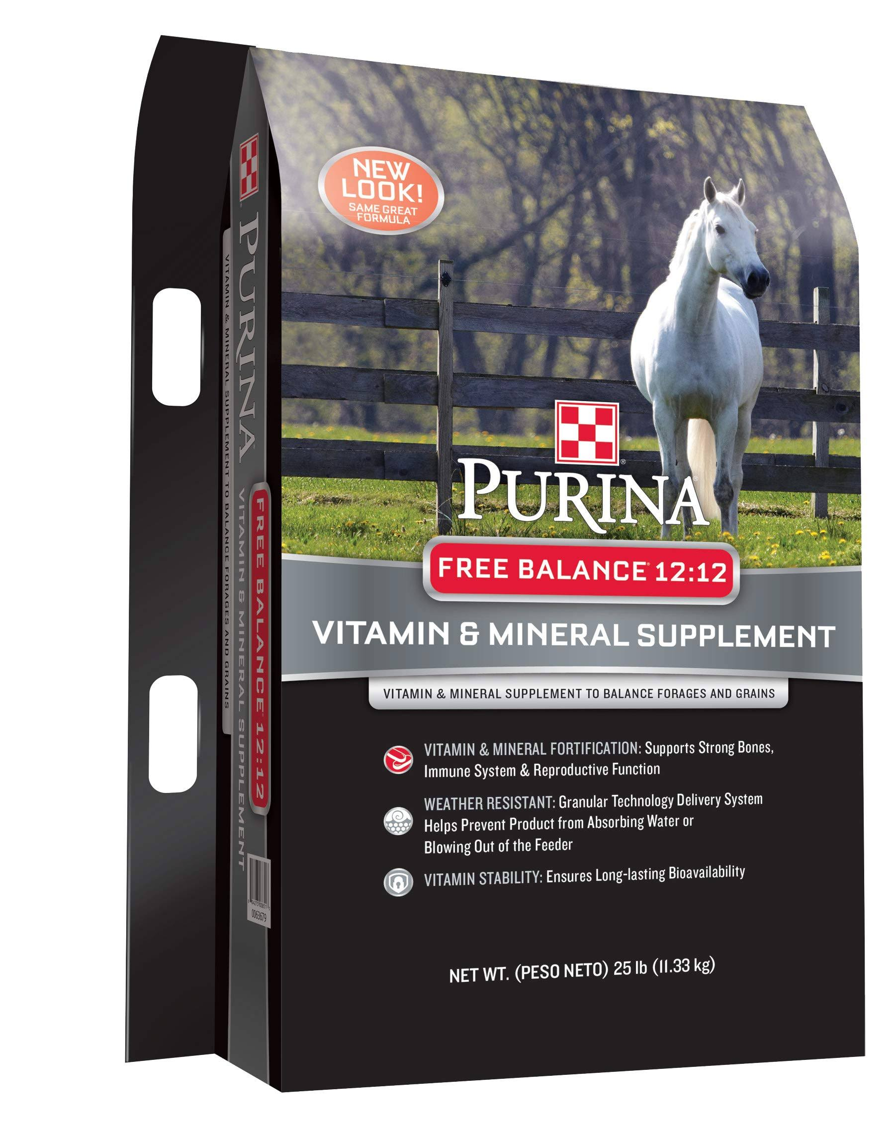 Purina Free Balance 12:12 Horse Supplement, 25 lb Bag
