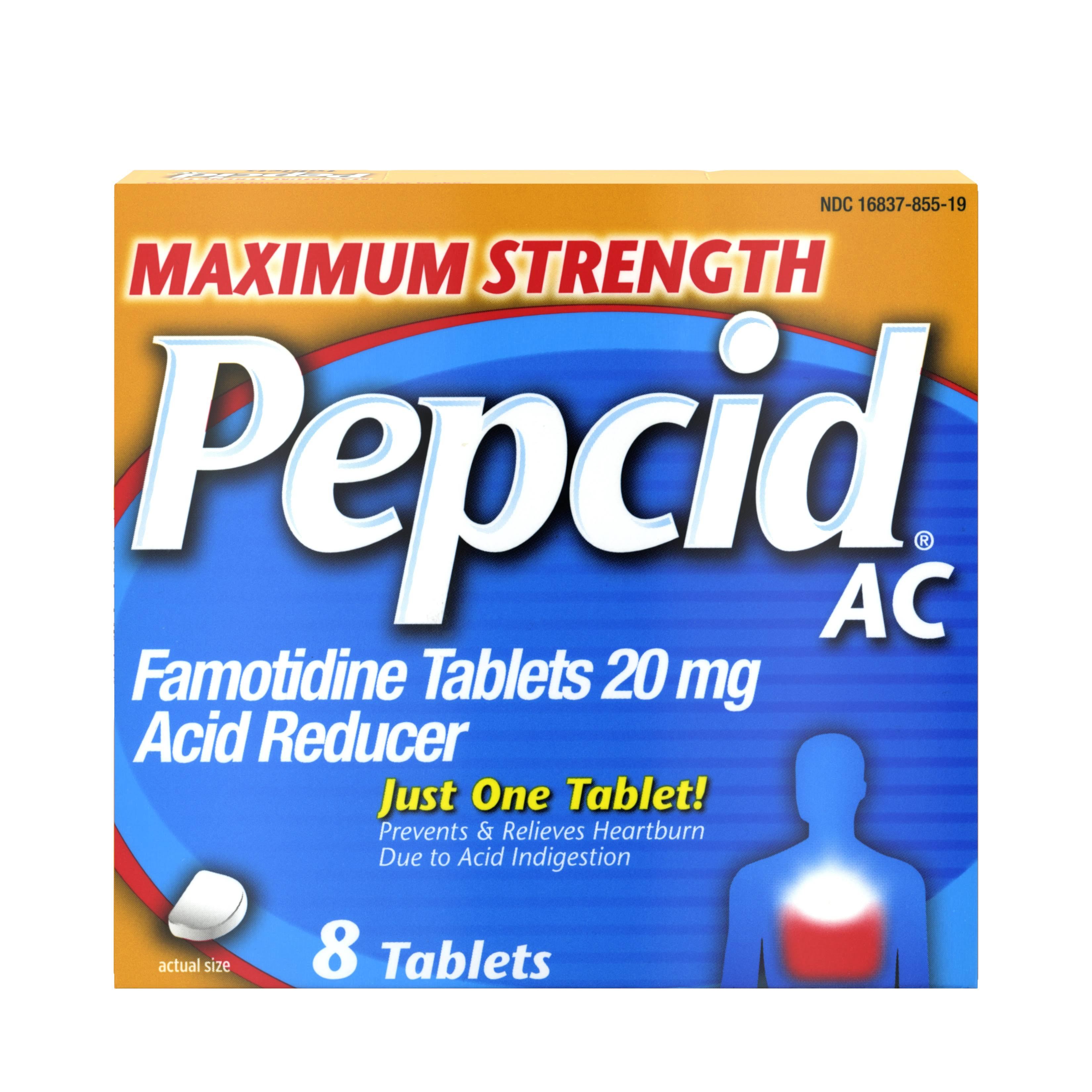 Pepcid AC Maximum Strength Famotidine - 20 mg, x8