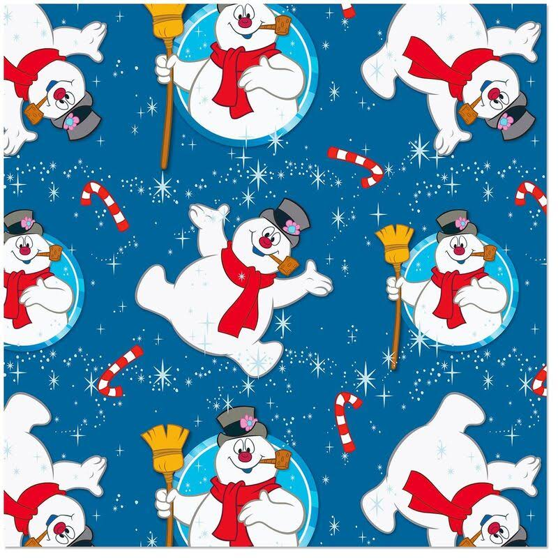 Frosty The Snowman Jumbo Roll Christmas Wrapping Paper, 80 Sq. ft.