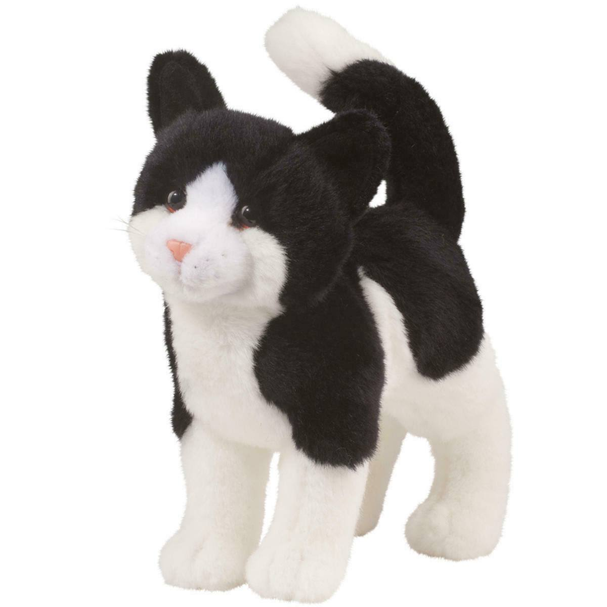 Douglas Cuddle Toy Scooter The Black & White Cat Plush