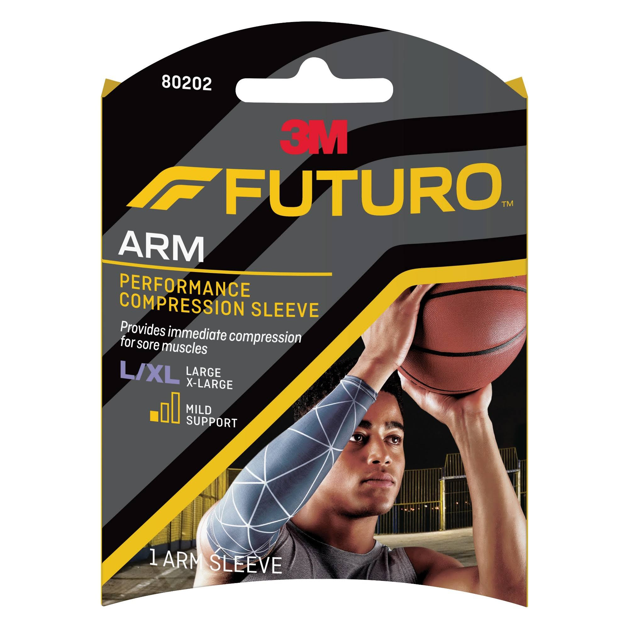 Futuro Performance Compression Arm Sleeve - Large/X-Large