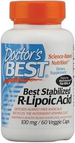 Doctor´s Best Stabilized R-Lipoic Acid - 60 Capsules