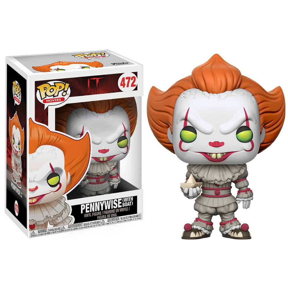It Pennywise With Boat Pop! Vinyl Action Figure Toy with Chase