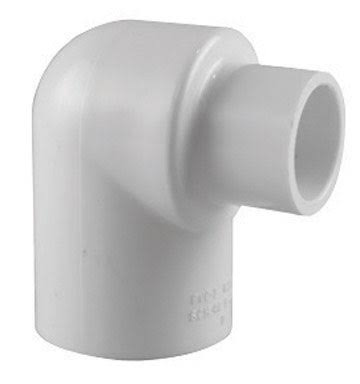 Charlotte Pipe & Foundry Reducing Elbow - Pvc, White, 90 Degrees