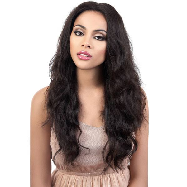 "Motown Tress Persian 100% Virgin Remy 13""x2"" Swiss Lace Front Wig HPL3 Rira - Natural"