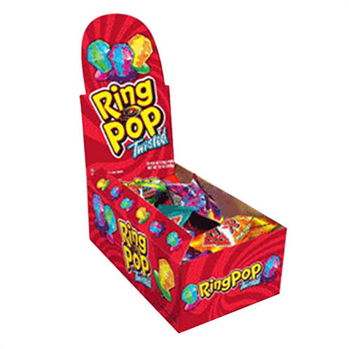 Ring Pop Twisted Ring Pop, Blue Raspberry Watermelon - 0.5 oz