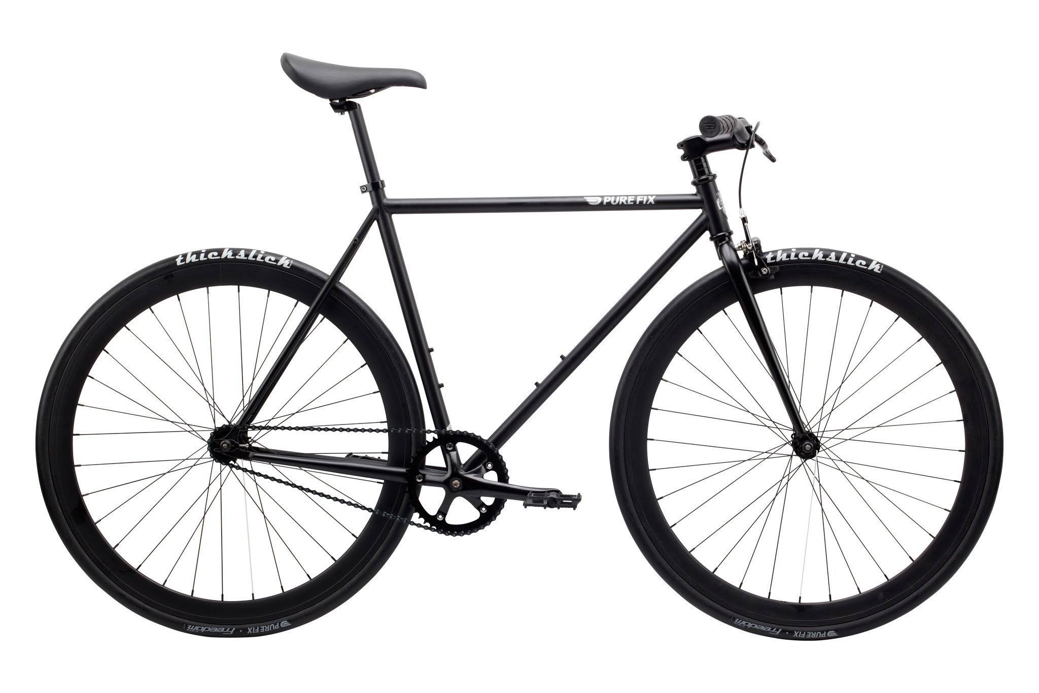 Pure Fix Cycles Fixed Gear Urban Fixie Road Bike - Juliet Matte Black, 58cm