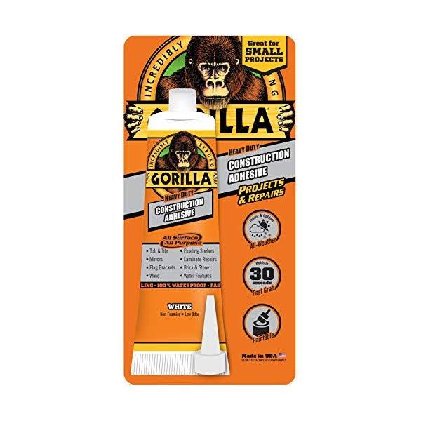 Gorilla Heavy Duty Construction Adhesive - White