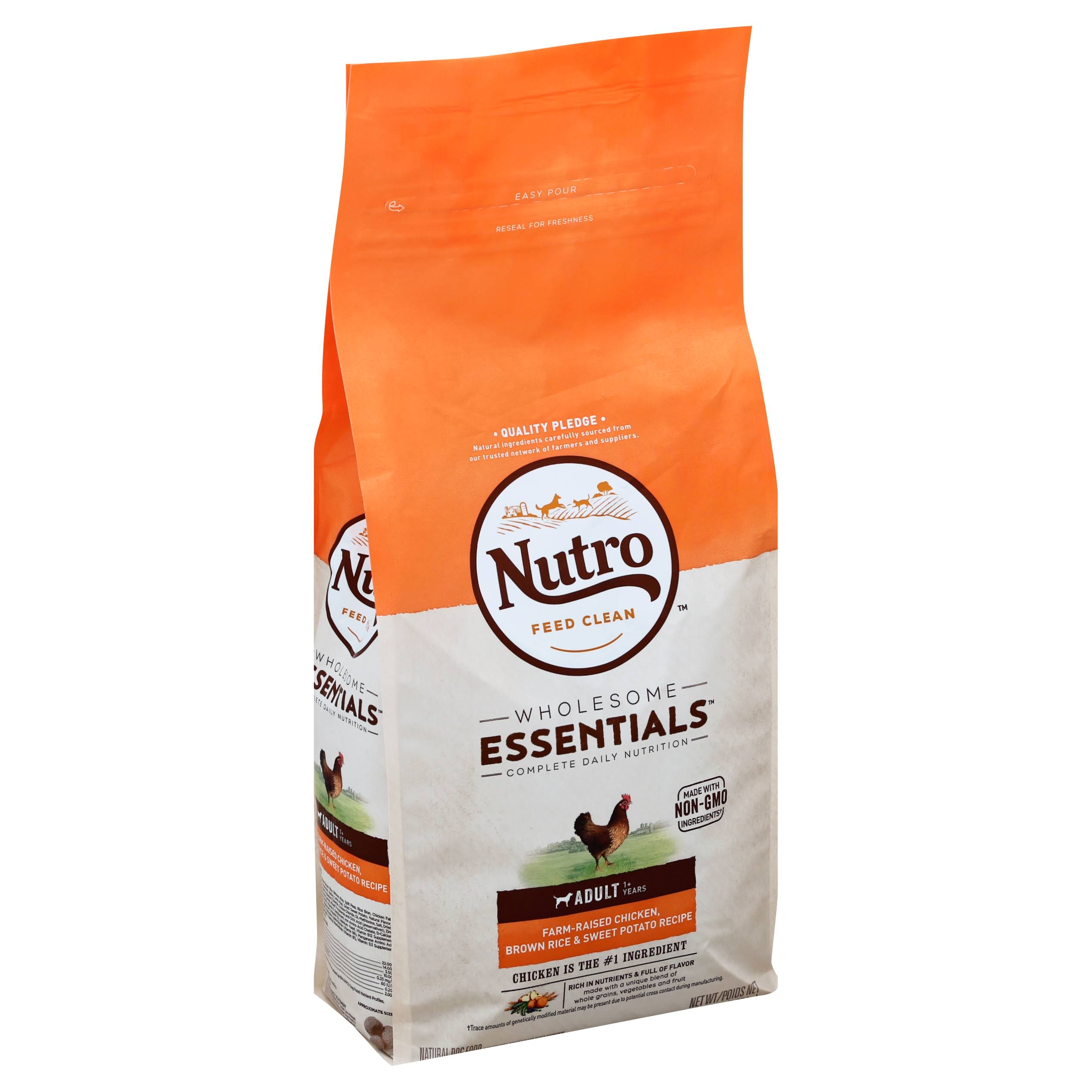 Nutro Adult Chicken Whole Brown Rice & Oatmeal Dog Food - 5 Lb