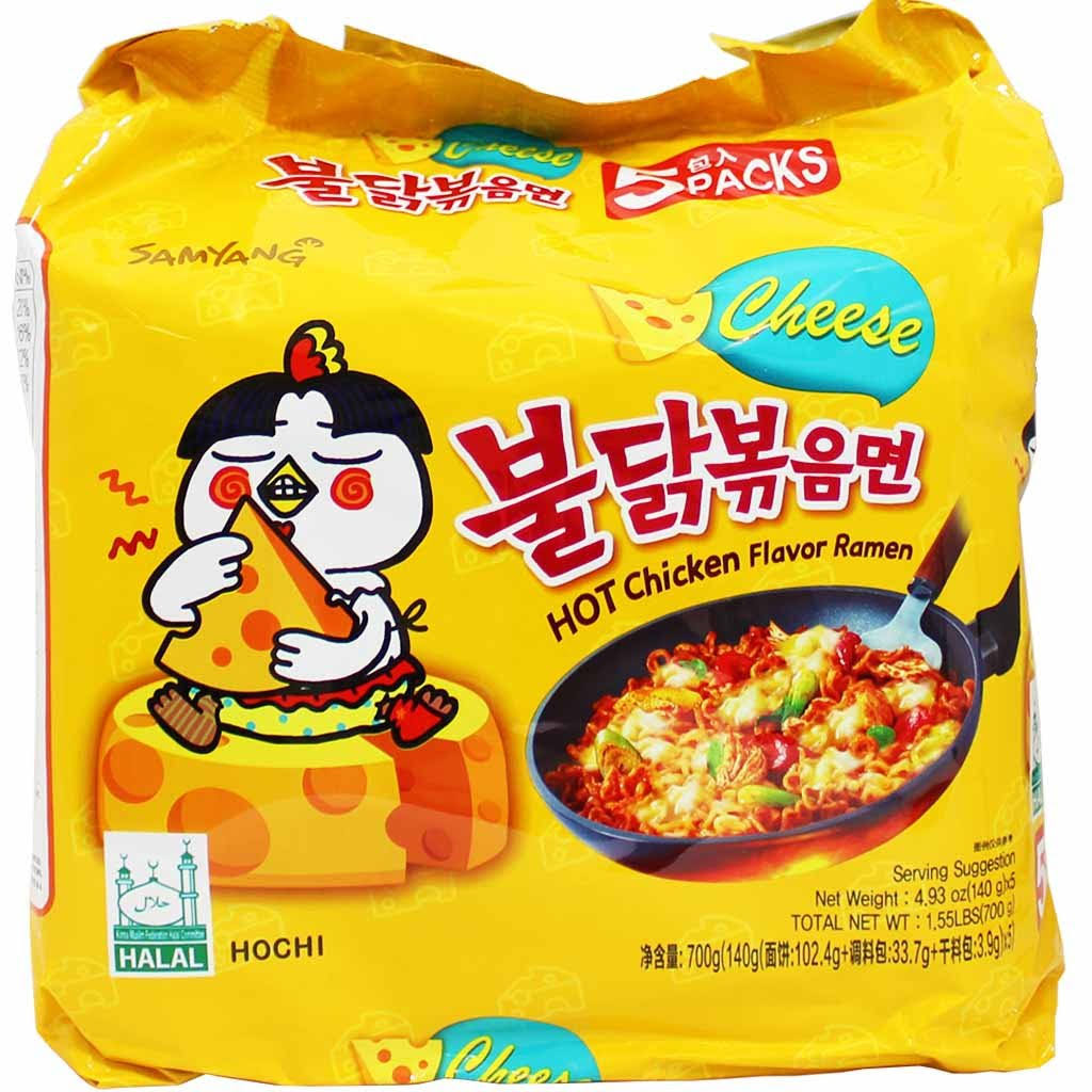 Samyang Chicken Flavoured Ramen - Cheese, 140g, 5pk