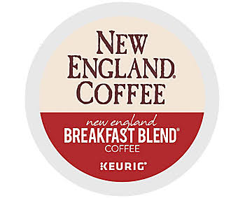 New England Coffee Breakfast Blend K Cup Pods 24 Box