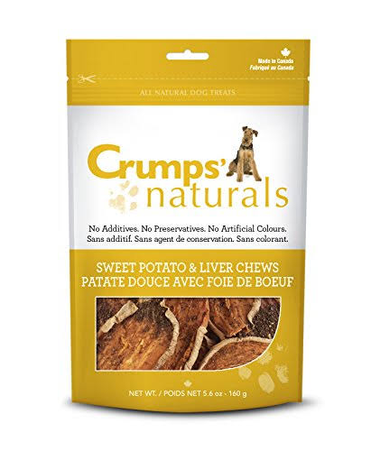 Crumps' Naturals Sweet Potato and Liver Dog Treats - 5.6oz