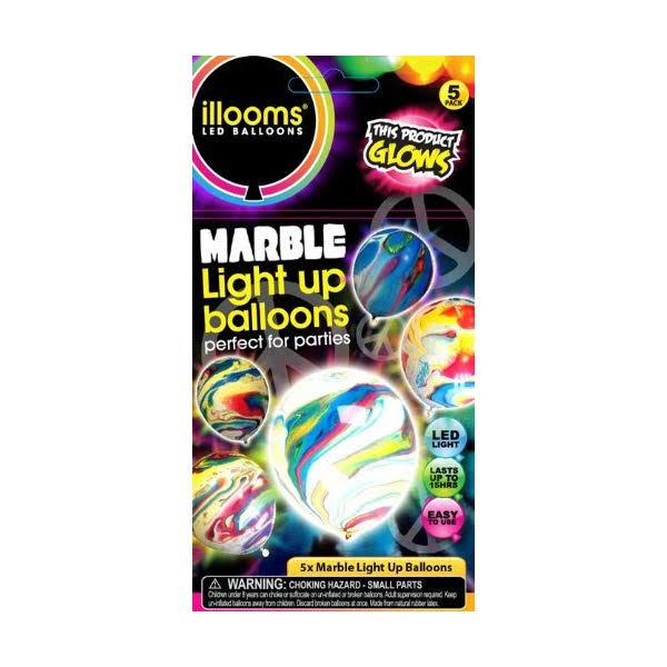 Illooms LED Light up Marble Balloons