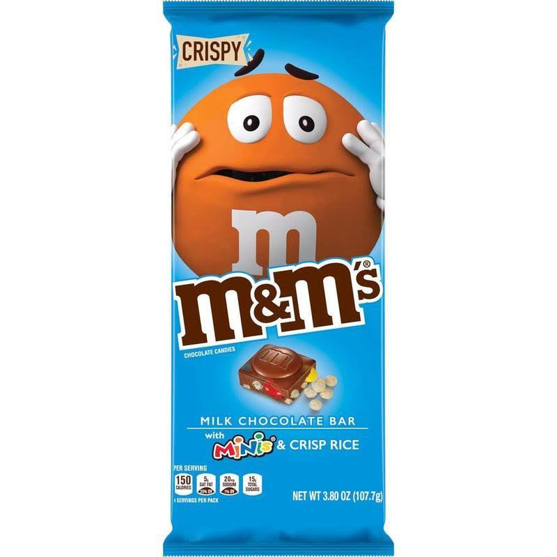 M & M Chocolate Candies, with Minis/Crisp Rice, Crispy - 3.80 oz