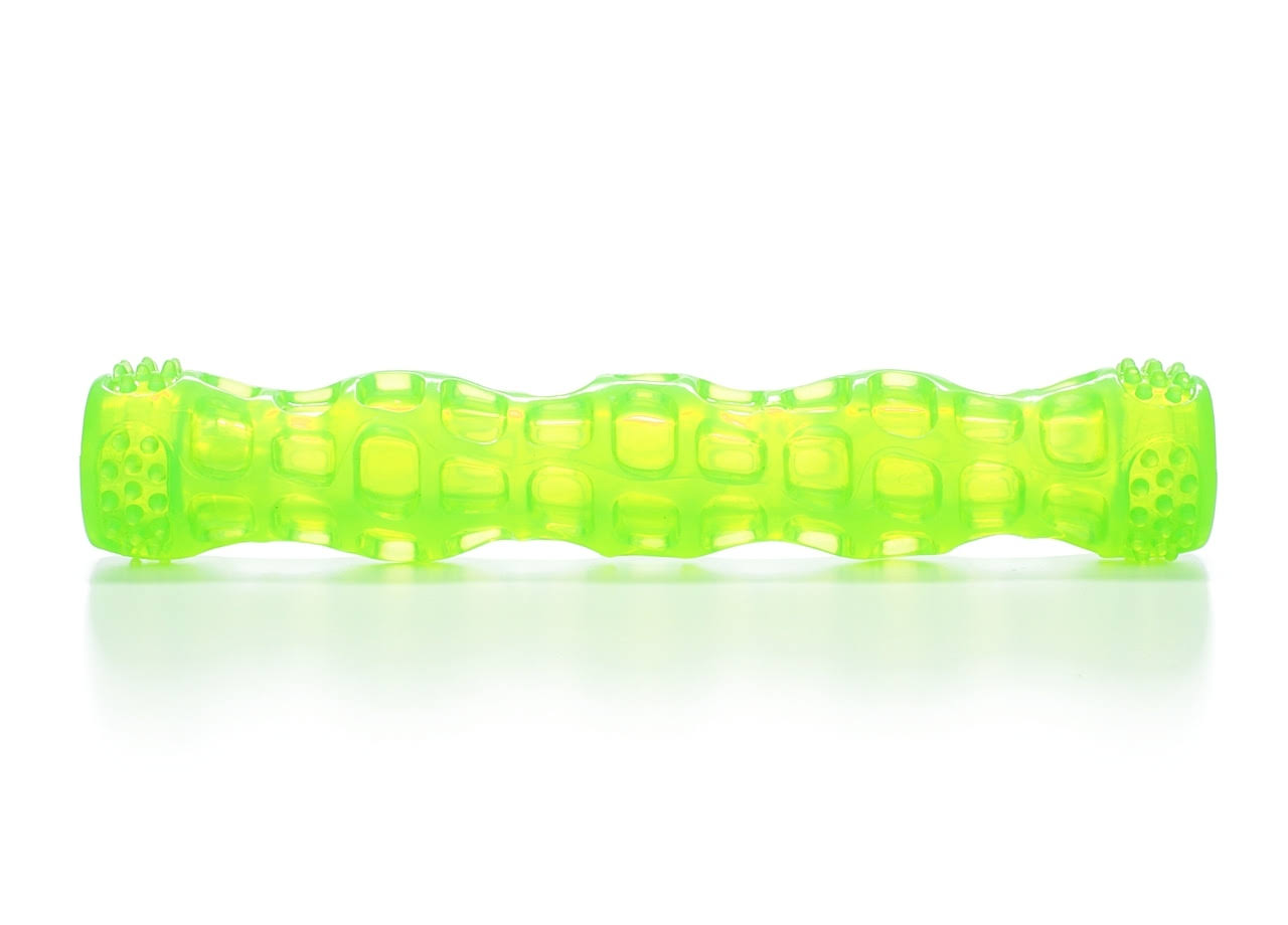 Hyper Pet Dura Squeaks Stick Dog Toy - Large, Green