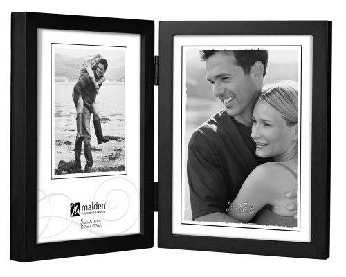 Malden 5x7 Double Vertical Black Concepts Frame