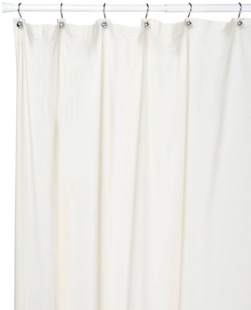"Carnation Home Fashions Vinyl Shower Curtain Liner - White, 5 Gauge, 72"" X 108"""