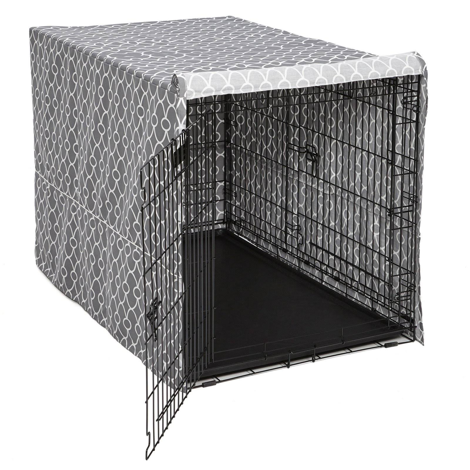 QuietTime Defender Covella Dog Crate Cover Gray