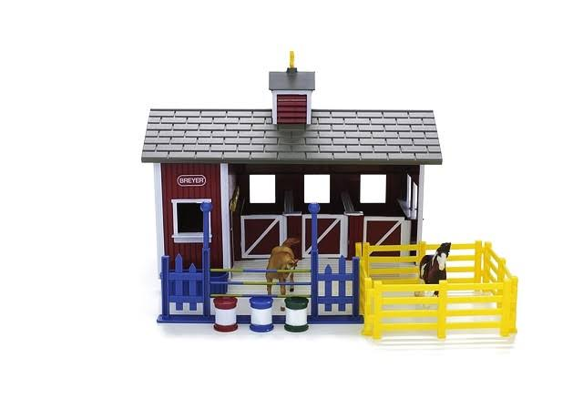 Breyer Stablemates Toy Set - Red Stable
