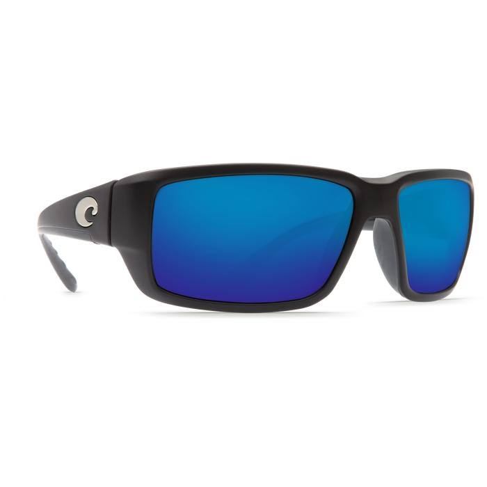 Costa Del Mar TF11OBMP Fantail Sunglasses - Blue Mirror/Black Frame