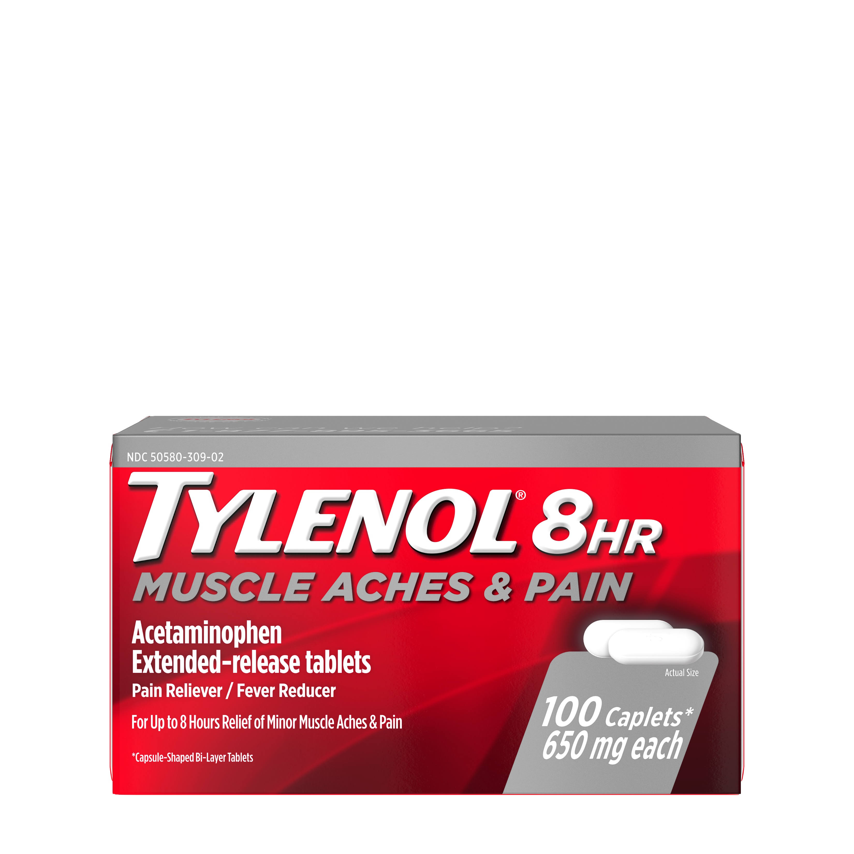 Tylenol 8 Hour Muscle Aches and Pain Caplets - 100 Caplets