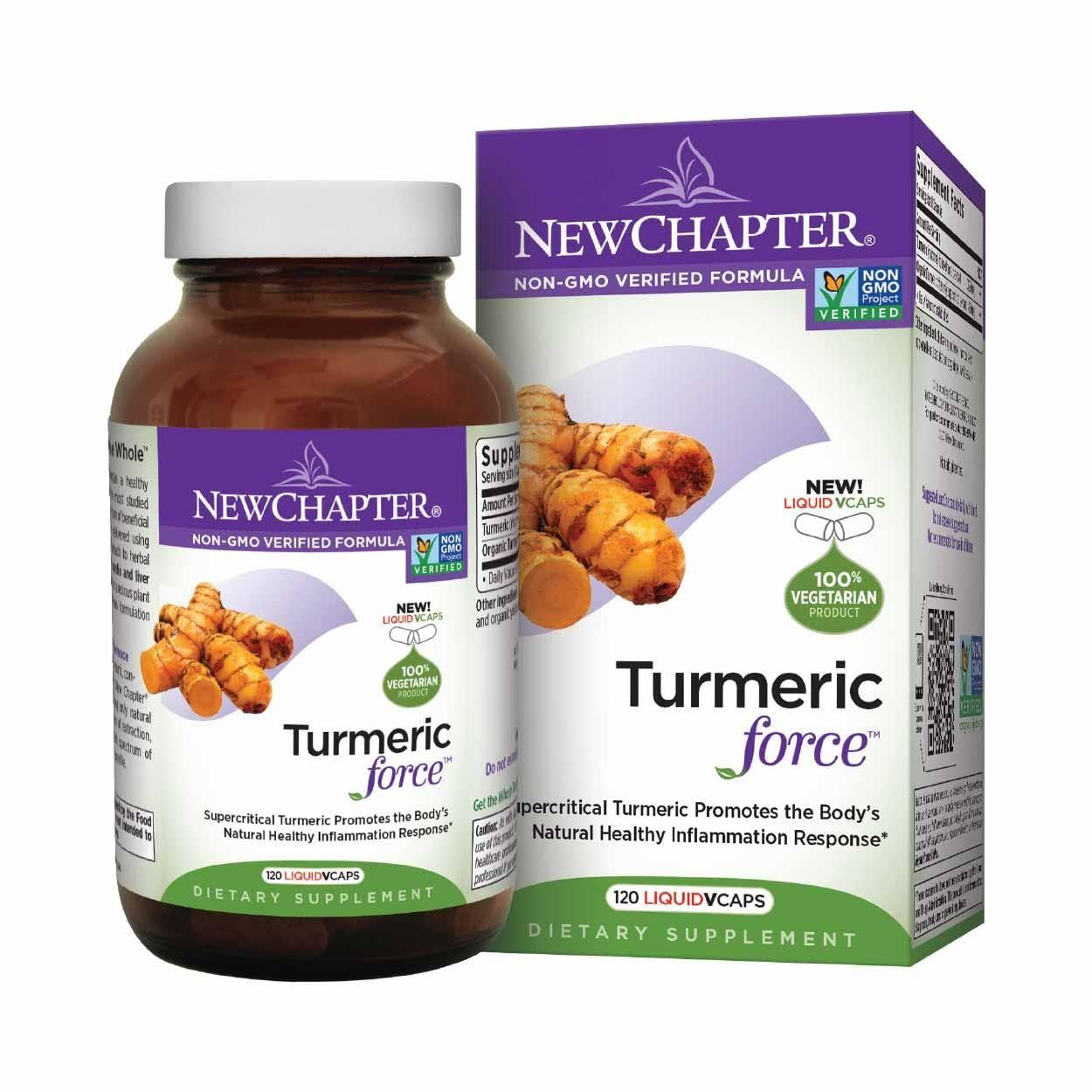 New Chapter Turmeric Force - 120 Liquid Vcaps