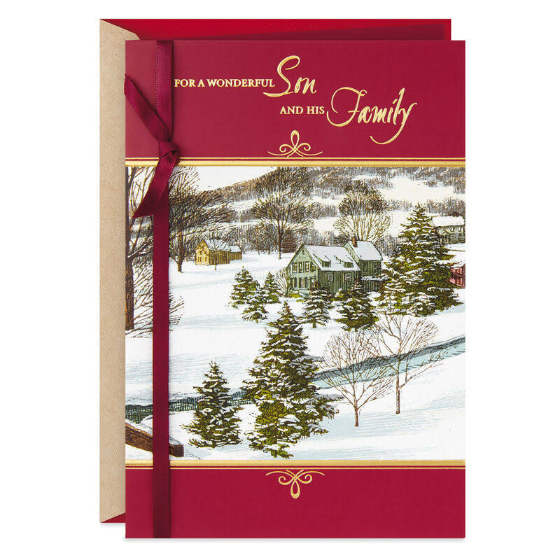 Happy, Proud and Blessed Christmas Card for Son and Family