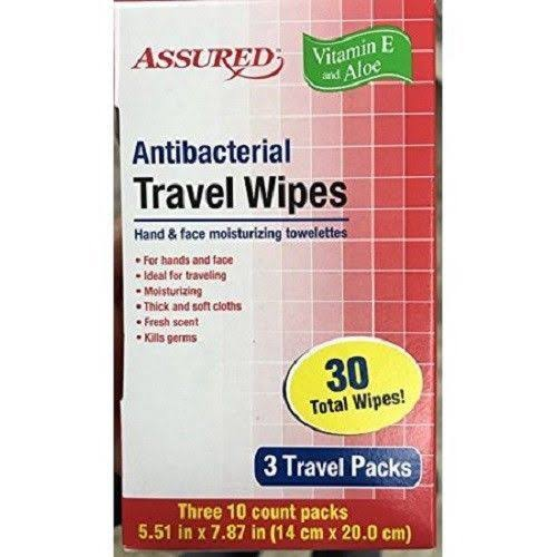 Antibacterial Travel Wipes