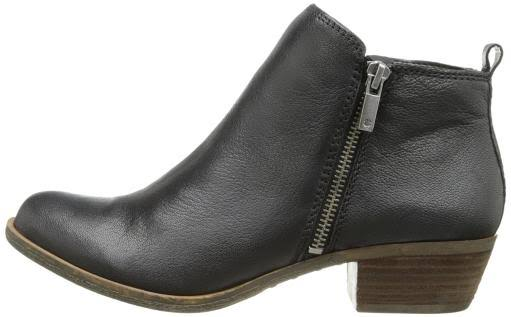 Lucky Brand Womens Basel Side Zip Ankle Boots - Black, US8.5