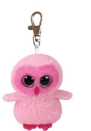 Ty Beanie Babies Boos Twiggy The Pink Owl Boo Key Clip