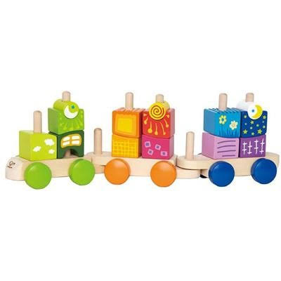 Hape Early Explorer Fantasia Blocks Wooden Train Set