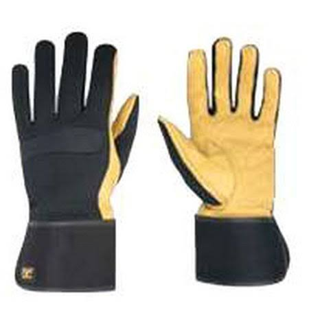 Custom Leathercraft 270XL Work Gloves with Top Grain Leather and Safety Cuff, X-Large