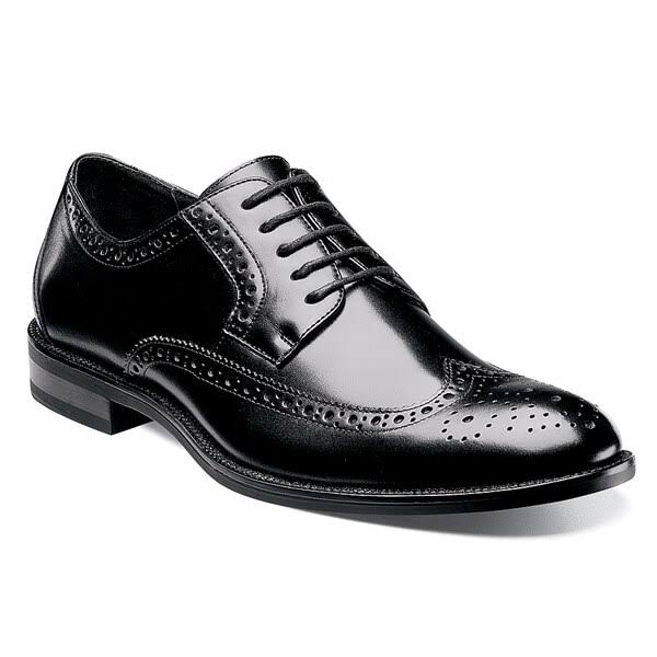 Stacy Adams Men's Garrison Wingtip Oxford Shoe - Black, 9 US