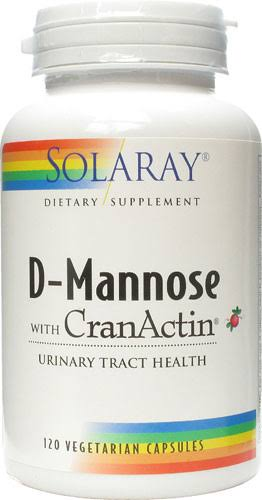 Solaray D-Mannose with Cranactin Supplement - 120 Vegetarian Capsules