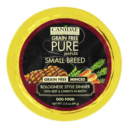 Canidae Grain Free Pure Petite Dog Bolognese Dog Food - 3.5oz