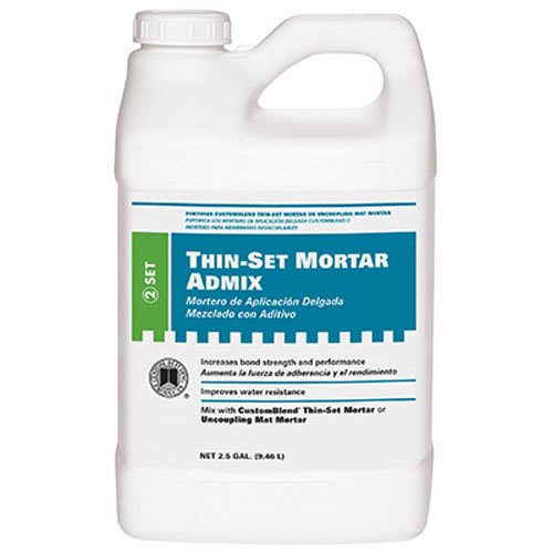 Custom Building Thinset Mortar and Grout Additive - 2.5 Gallon