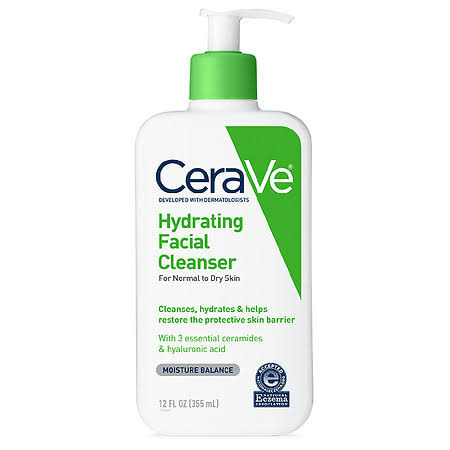 Cerave Hydrating Facial Cleanser - For Normal To Dry Skin, 12oz