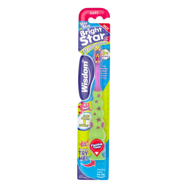 Wisdom Step by Step Bright Star Soft Toothbrush - 3 Plus Years