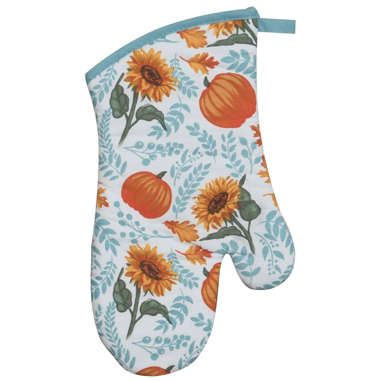 Kay Dee Harvest Delight Pumpkins and Sunflowers Kitchen Oven Mitt